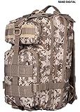 Level III Assault Day Pack MOLLE - Heavy Duty 600D Military Day Pack - DESERT DIGITAL