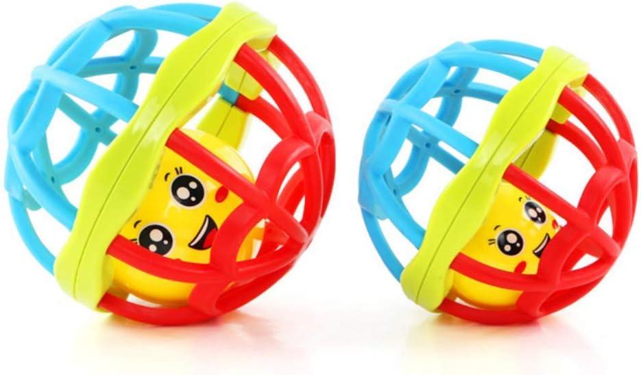 Sonajero de mano para bebé, pelota de plástico suave, juguete ...