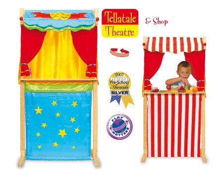Wooden Puppet Theatre and Shop Childrensalon fct2359