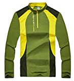 Kaisike Long Sleeve Shirt Men UV Sun Protection Quick Dry Outdoor Sports Tops Activewear