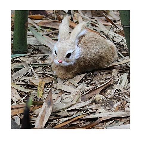 Flodance 15CM Mini Realistic Cute White Plush Rabbits Fur Lifelike Animal Easter Bunny Simulation Rabbit Toy Model Birthday Gift