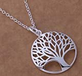 Sterling Silver Tree Necklace Women Jewelry Beach Wedding Bridesmaid Gift