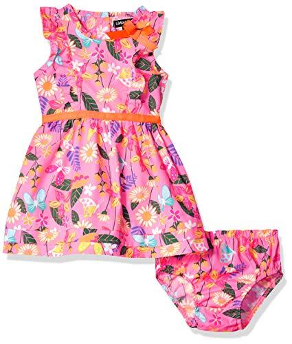 Ribbon Trim Placket - Limited Too Baby Girls Poplin Sundress, Butterfly Multi, 12M