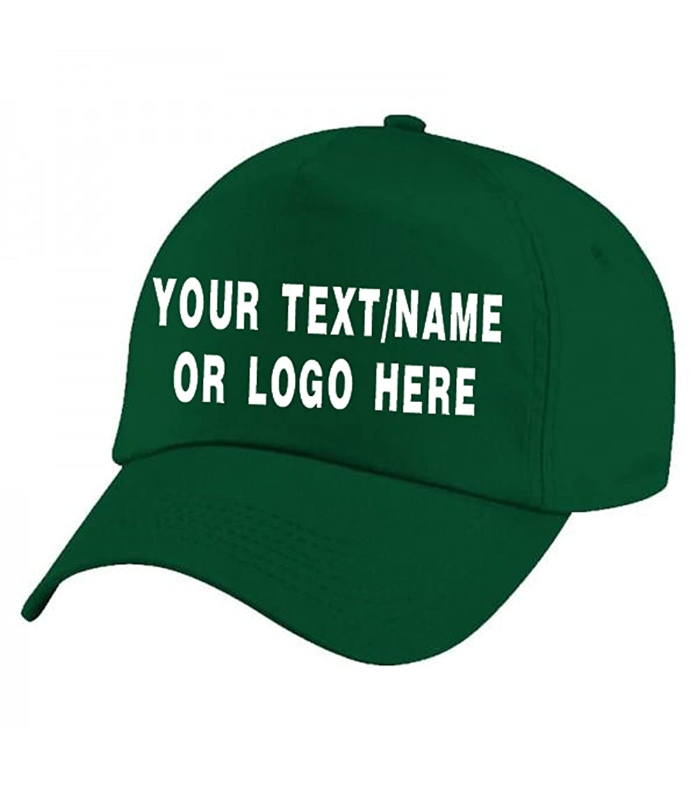 Personalised Baseball caps Customised Adults Unisex Printed Caps Hats with Text//Name or Logo