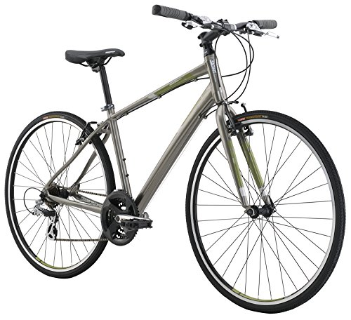 "Diamondback Bicycles 2016 Insight 1 Complete Performance Hybrid Bike, Metallic Grey, 18"" Frame"