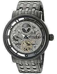 Stuhrling Original Men's 8411.335B1 Symphony DT Analog Display Dual TimeAutomatic Self Wind Black Watch
