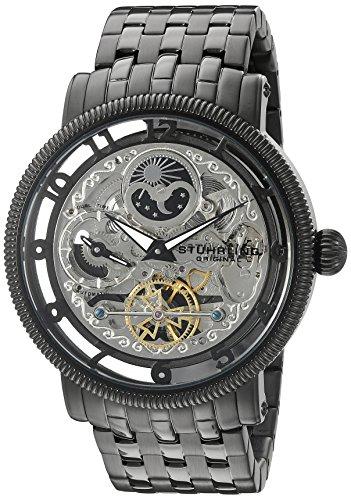 Stuhrling Original Men's 8411.335B1 Symphony Symphony DT Analog Display Automatic Self Wind Black Watch