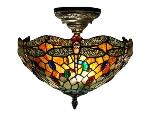 Dale Tiffany Flush - Dale Tiffany TH12235 Sonota Semi Flush Mount Light Fixture, Dark Antique Brass