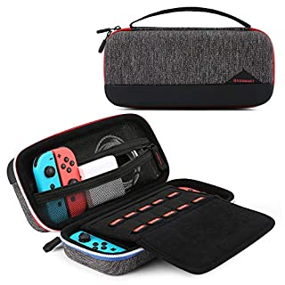 BAGSMART Case for Nintendo Switch, Portable Protective Switch Carry Case Travel with 10 Cards Slots for Nintendo Switch Console, Accessories, Black