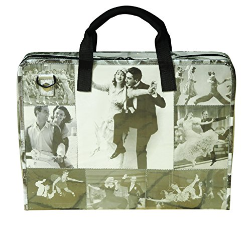 LAPTOP briefcase vintage black & white images, FREE SHIPPING, retro print padded computer work bag upcycled upcycling different smart person vegetarians products eco people enthusiasts enthusiast by Upcycling by Milo