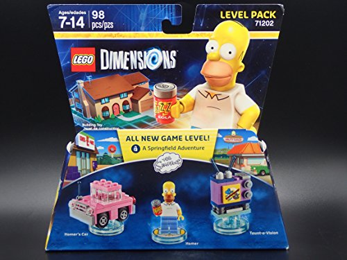 Lego Dimensions Homer Simpson Triple Figure Level Pack