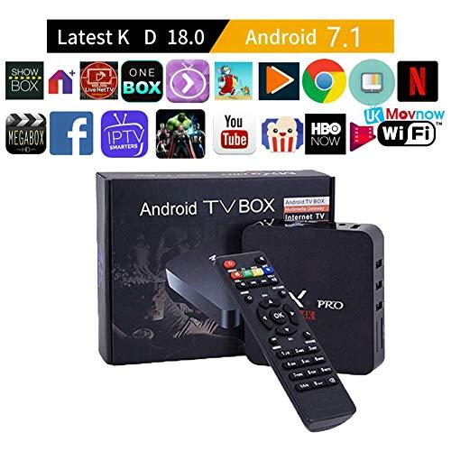Android 7.1 TV Box MX Pro 4K RK3229 Quard-core Wi-Fi Embedded UHD T Smart TV Box 1GB 8GB MX Pro Support USB 2.0 2.4GHz WiFi 3D 4K Full HD H.265 100M Ethernet 2020 New TTV Box