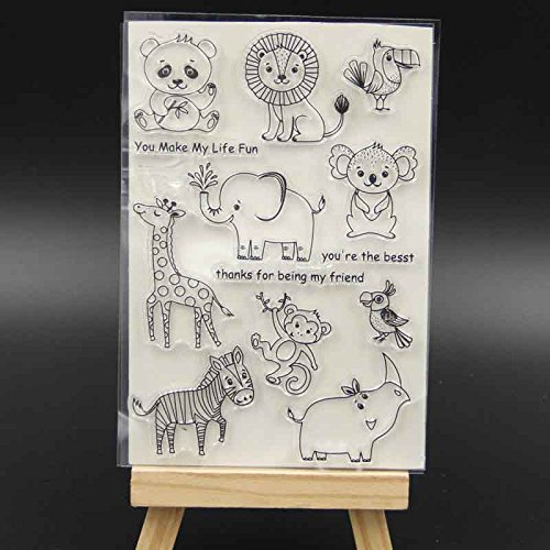 BarFeer Wild Animals Transparent Clear Silicone Stamp/Seal for DIY scrapbooking/photo album Decorative Card Making