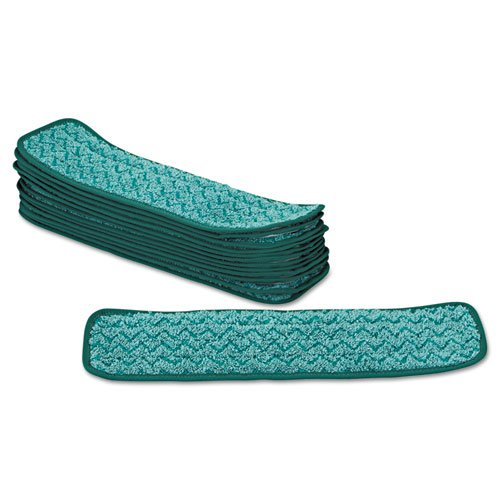 Rubbermaid Commercial Microfiber Dust Pad, 18 1/2 x 5 1/2, Green, 12/Carton