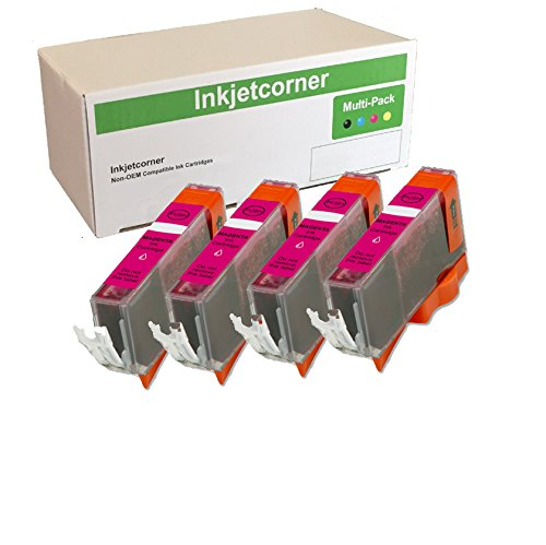 Inkjetcorner 4 Pack Magenta Compatible Ink Cartridge with chip Replacement for CLI-226 CLI-226M Series iX6520 MG5120 MG5220 MG5320 MX882 MX892