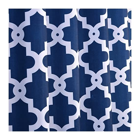 "Luunaa Geometric Patterned Shower Curtain Waterproof  , 72 x 72 Inch with 12 Hooks (Blue Geometric 72"" x 80"" ) - The fabric does not fade, perfectly weighted, very durable and easy care, use wet cloth and mild detergent to wipe off the dirt or machine wash directly. 72"" x 72"" (180 x 180 cm)/ 72"" W x 80"" L( 180W x 200L cm) for multiple choices; 12 Rust Proof Metal Grommets; Package include 1 x shower curtain and 12 x plastic curtain hooks We offer you high quality products with so favorable price and best service . Items can be returned within 30 days of receipt of shipment if you are not satisfied for any rea - shower-curtains, bathroom-linens, bathroom - 51U5SaHTNvL. SS570  -"