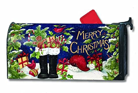 Mailwraps Santa's Boots Magnetic Mailbox Cover #05006