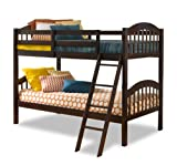 twin over full espresso bunk bed - Storkcraft Long Horn Solid Hardwood Twin Bunk Bed, Espresso