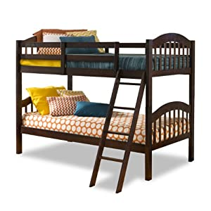 Storkcraft Long Horn Solid Hardwood Twin Bunk Bed, Espresso 2