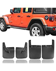 Hooke Road Fender Flares Front & Rear Mud Guards Kit Compatible with Jeep Wrangler JL 2018 2019 2020 2021 Sahara Sport Sports (Exclude Rubicon)