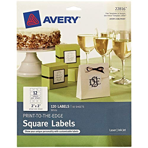 (Avery Square Labels for Laser & Inkjet Printers, Print-to-The-Edge, 2