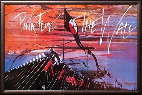 FRAMED Pink Floyd - Marching Hammers 24x36 Poster in Real Wood Premium Copper Rust Finish Crafted in (Marching Hammers)