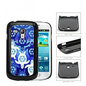 Blue Sea Turtles With Floral Designs Hard Plastic Snap On Cell Phone Case Samsung Galaxy S3 SIII Mini I8200