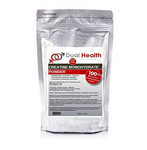 Pure Micronized Creatine Monohydrate Powder (5 lbs) Bulk Supplements