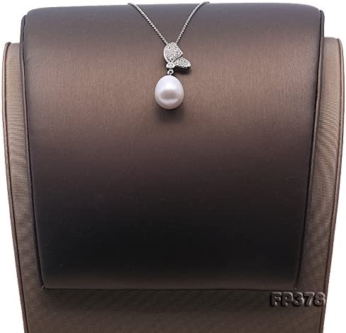 Jyx Argent sterling 12 16/mm ovale Blanc perle deau douce Collier Pendentif