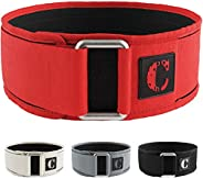 Contraband Black Label 4010 4 Inch Nylon Weight Lifting Belt w/Hook & Loop   Heavy Duty Weight Belt and Ba