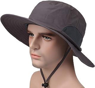 Zhuhaimei,Cappello da Pescatore all'aperto Cappello da Sole Protezione Solare ad Asciugatura Rapida Protezione UV per Uomo e Donna Size:L (58-60 cm))