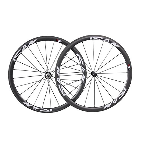 ICAN Carbon 38mm Tubular Wheelset Road Bike Only 1330g/set