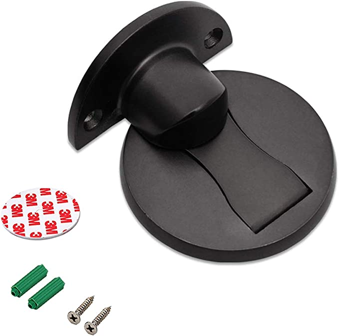 Door Stopper Catch Magnetic Stainless Steel Door Stop with Screws and 3M Double Sided Adhesive Tape for Home Office Door 3 PCS Magnetic Door Holders