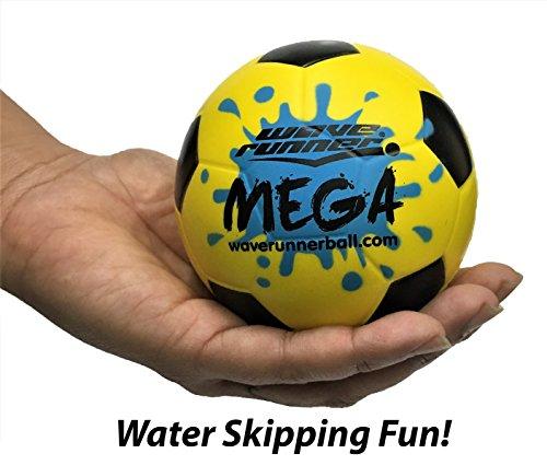 Wave Runner Mega Sports Miniature Soccer Style - Intelligent Foam Water Ball 3.5