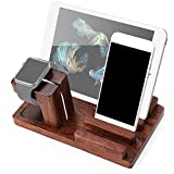 Apple Watch Stand,100% Natural Rosewood Show Wish Rosewood Charge Dock Holder for Apple Watch & Docking Station Cradle Bracket for Ipod Iphone Ipad and Other Phones Tablets