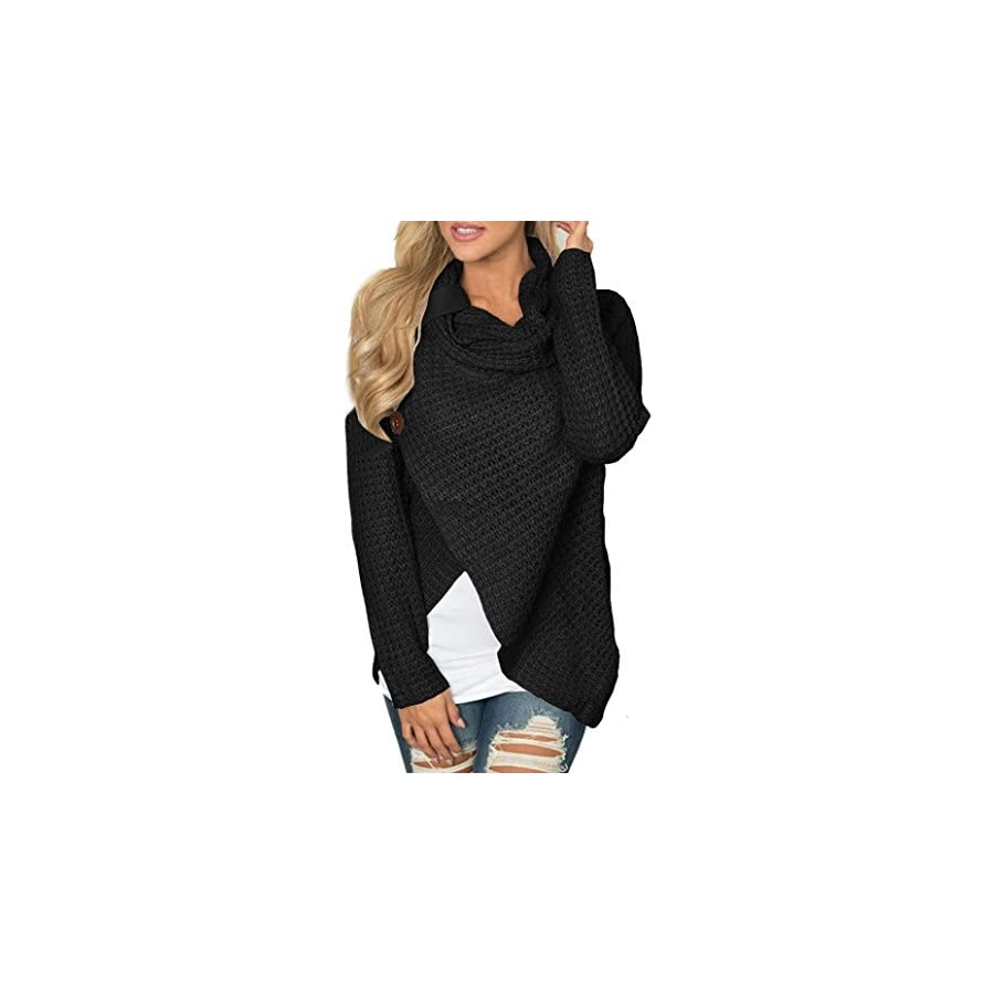 XOWRTE Blouse Women Long Sleeve T Shirt Solid Sweatshirt Pullover Tops