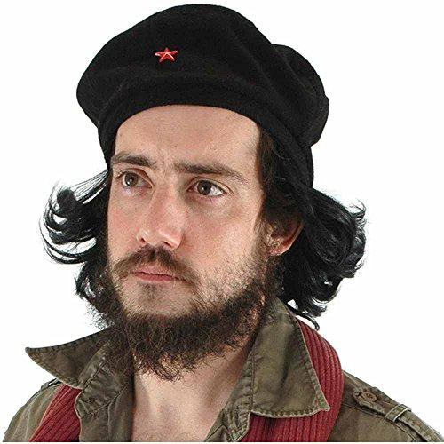 sc 1 st  Amazon.com & Amazon.com: Che Beret with Faux Hair - Adult Std. Black: Clothing