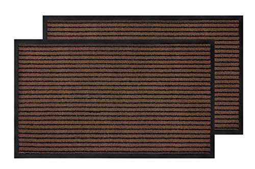 Bertte Super Absorbent Durable Rubber Entrance Doormat, Eco-Friendly Indoor/Outdoor Floor, Low-Profile Door Mat for Garage, Patio, High Traffic Areas 18