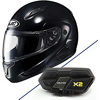 HJC 972-601 CL-MAXBT II Bluetooth Modular Motorcycle Helmet (Black, X-Small)