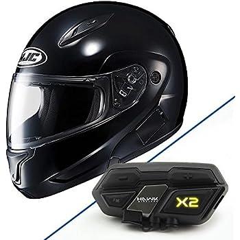 HJC 972-601 CL-MAXBT II Bluetooth Modular Motorcycle Helmet (Black, X-Small)