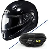 HJC CL-MAXBT II Bluetooth Modular Motorcycle Helmet (Black, XX-Large)
