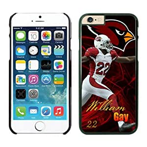 NFL Arizona Cardinals William Gay Case Cover For Apple Iphone 6 Plus 5.5 Inch Black NFL Case Cover For Apple Iphone 6 Plus 5.5 Inch 13654