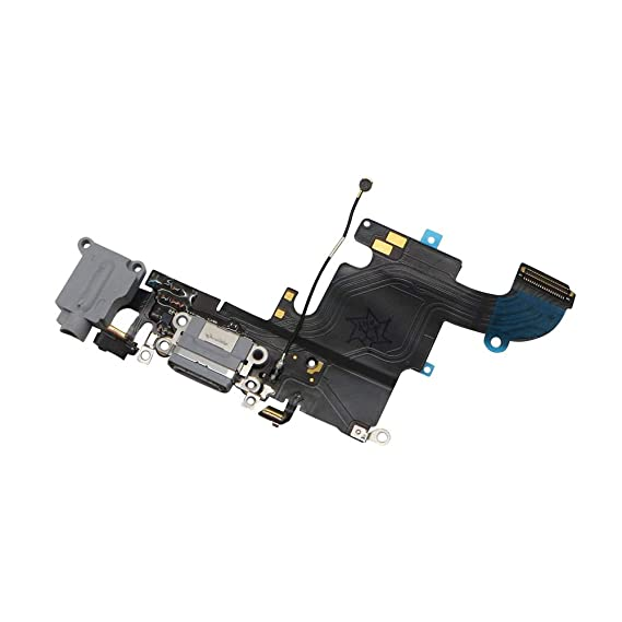 half off 96331 d560f Charging Port Replacement for iPhone 6S Black,GVKVGIH Replacement Charging  Port Dock Connector Flex Cable for iPhone 6S(6S Black)