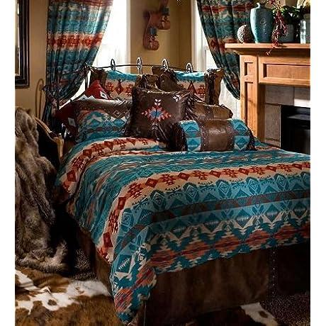 Turquoise Chamarro King Bedding Comforter