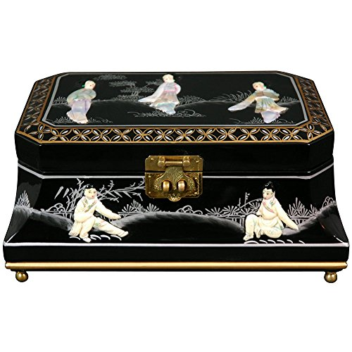 Oriental Furniture Adorlee Jewelry Box - Black