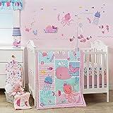 Bedtime Originals Sugar Reef 10-Piece Nursery to Go Crib Bedding Set