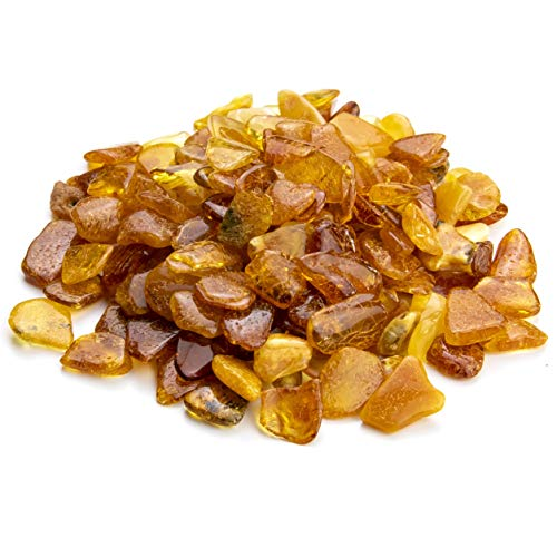 Baltic Amber Stones by Amber Culture | Mix Color, Natural, Polished Amber for Crafting, Jewelry and Paint Relief (No Holes) (20 Grams / 0.7 Ounce) -