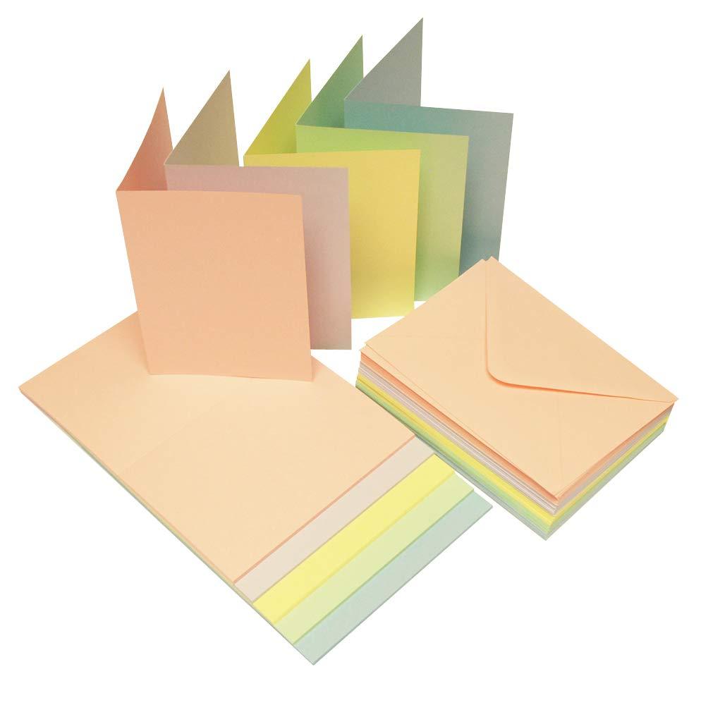 Craft UK 2179 A4 Pastel Rainbow Card - Multi-Colour