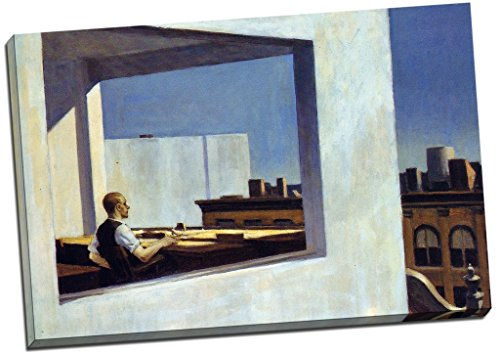 Panther Print Edward Hopper Office In A Small City Canvas Print Picture Wall Art Large 30X20 Inches
