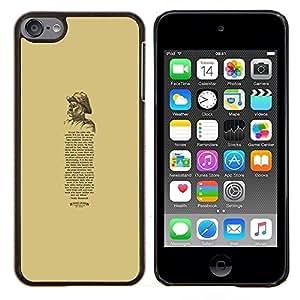 Eason Shop / Premium SLIM PC / Aliminium Casa Carcasa Funda Case Bandera Cover - Poema Retro Citar Texto - For Apple iPod Touch 6 6th Touch6